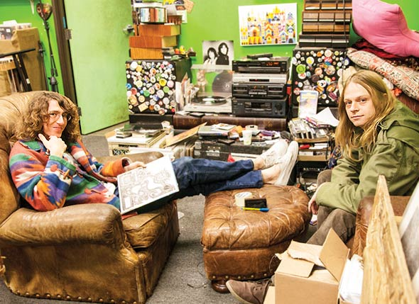 Lee Rickard, left, and Sean Bohrman, right, founders of Burger Records