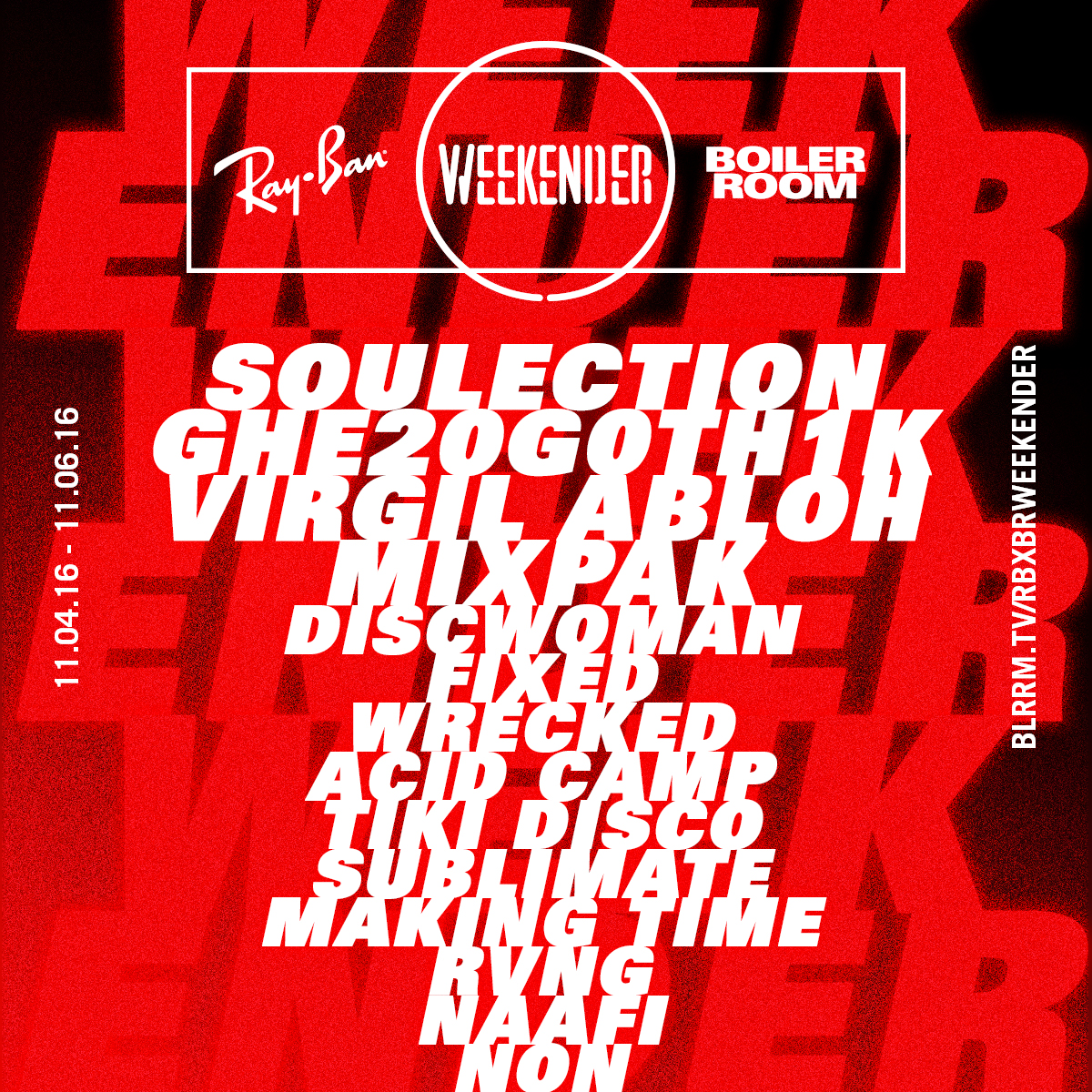 PREVIEW: Ray-Ban x Boiler Room Weekender 2016