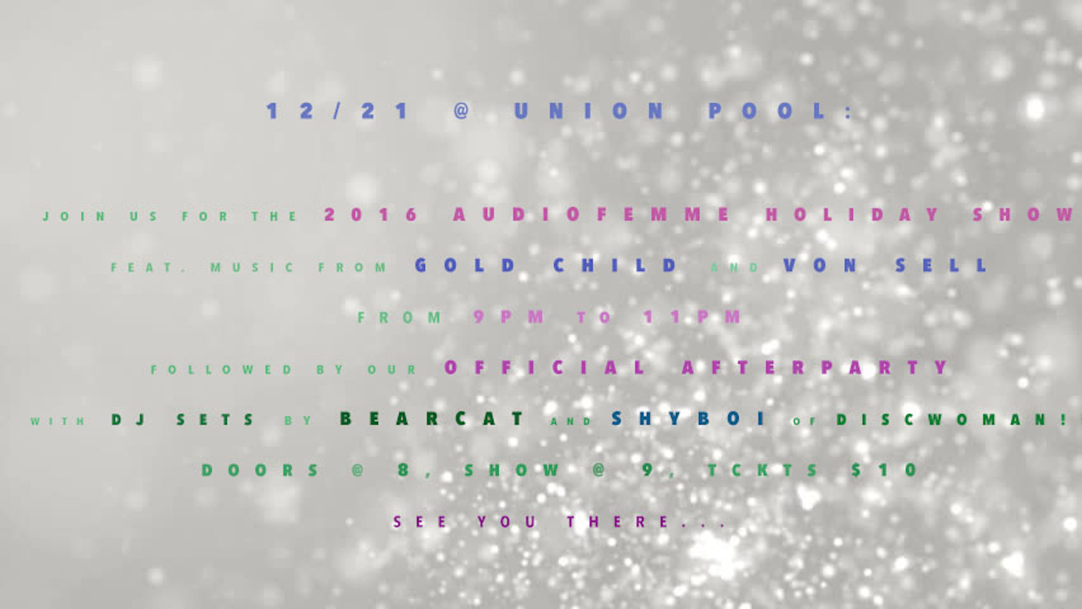 Audiofemme Holiday Flyer
