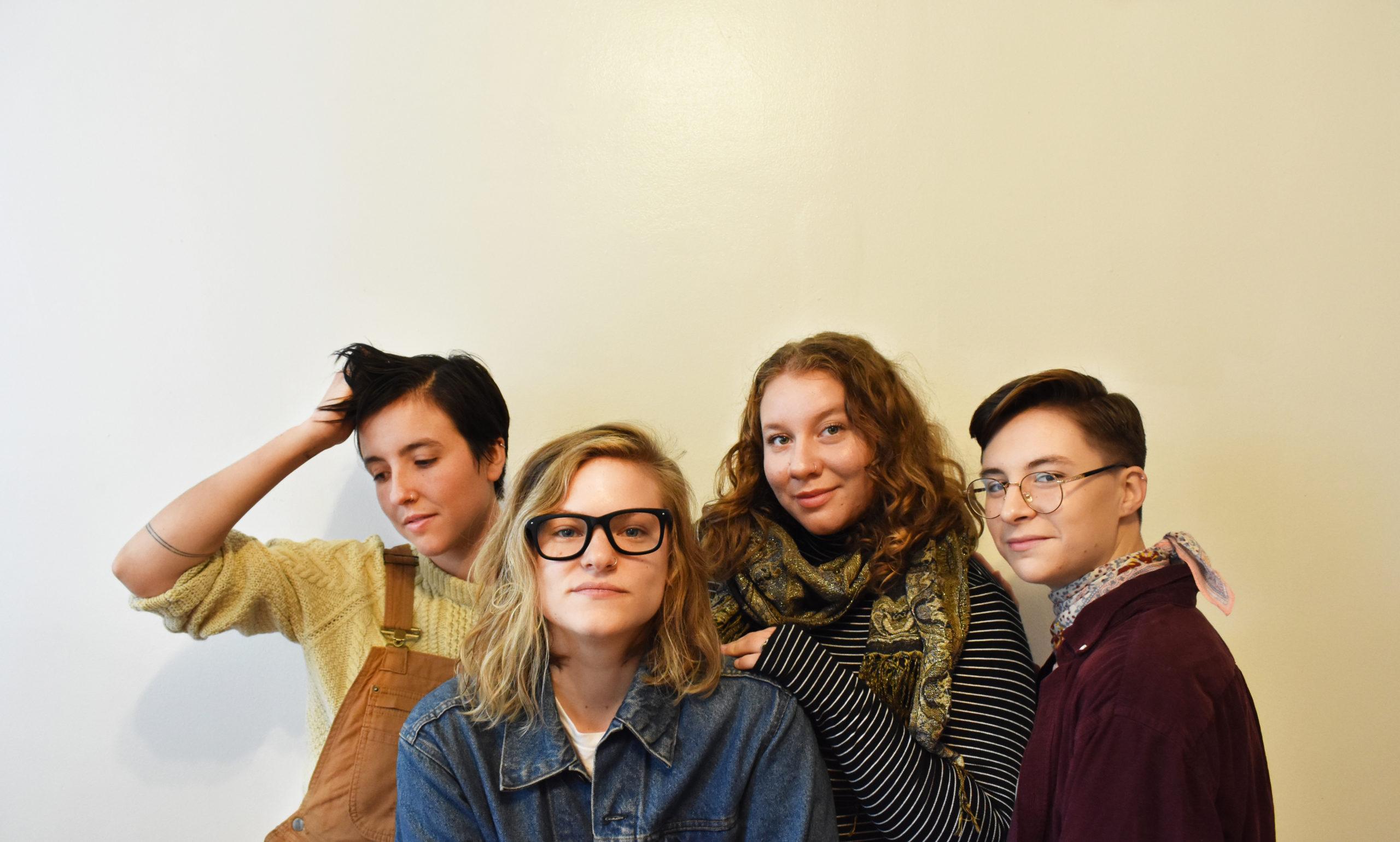 four members of Massachusetts folk band Ruby Mack